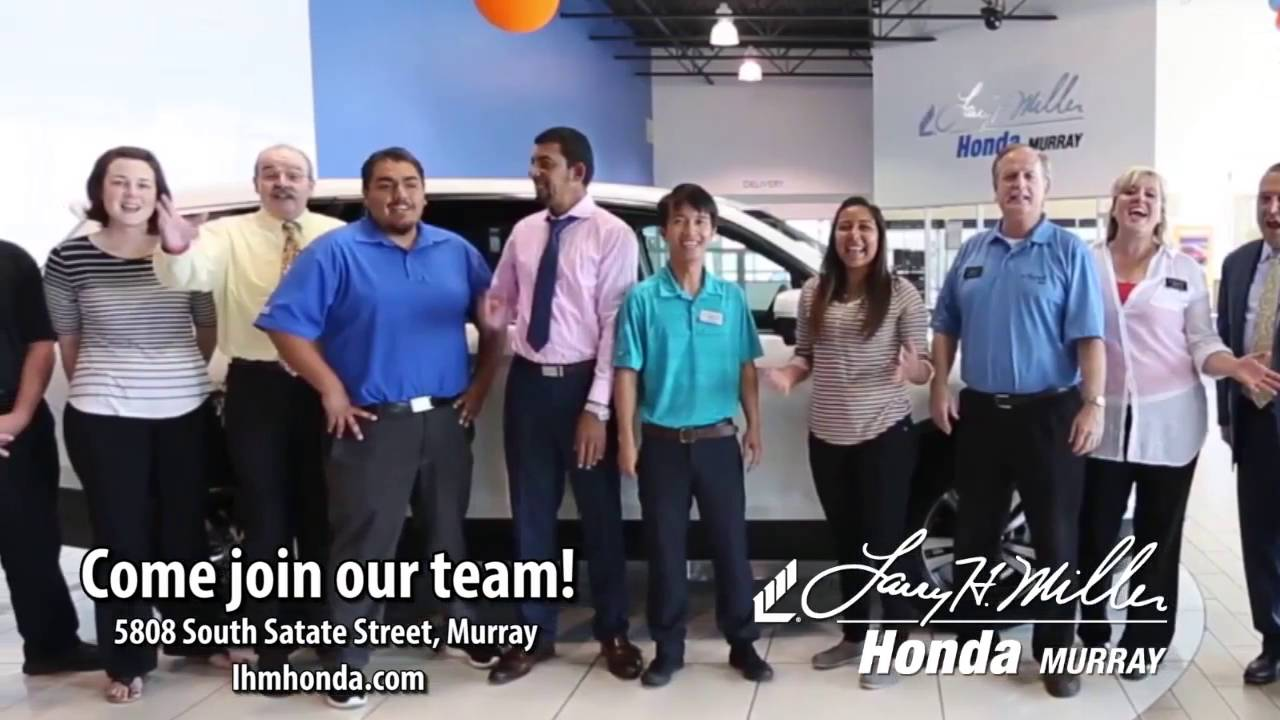 Larry H Miller Honda >> Join Our Winning Team At Larry H Miller Honda Murray Youtube