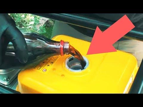 Acımadık Yine Denedik!: Benzinli Motora Dizel-Kola-Su Koyarsak Ne Olur?