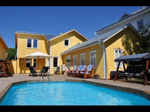 Lyxigt boende med pool i centrala Mariehamn