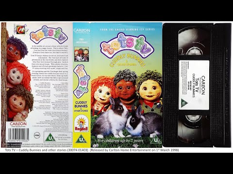 Tots Tv Cuddly Bunnies And Other Stories Vhs 1998