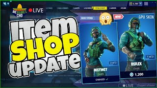 😱MenamesCho's - GPU SKIN REFLEX - INSTINCT SHOWCASE - ITEM SHOP FORTNITE BATTLE ROYALE - Sat 2 3 19
