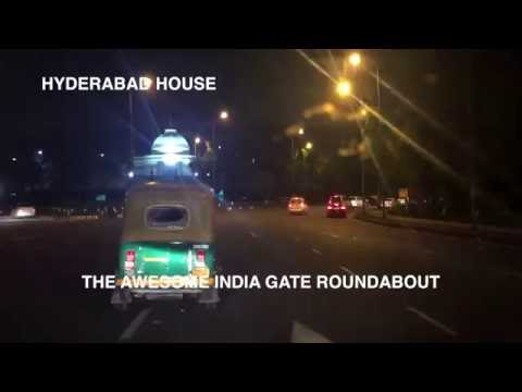 LATE NIGHT DRIVING TIMELAPSE - NEW DELHI, INDIA