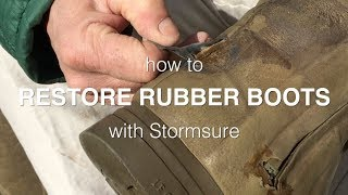 How To Restore Rubber Wellington Boots With Stormsure | Favourite Boots Restoration
