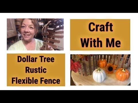 Dollar Tree DIY Fall Craft With Me ~ Flexible Rustic Fence Decor