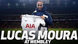 LUCAS MOURA IS PRESENTED AT WEMBLEY
