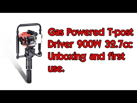 Gas powered T-post driver and T-post installation