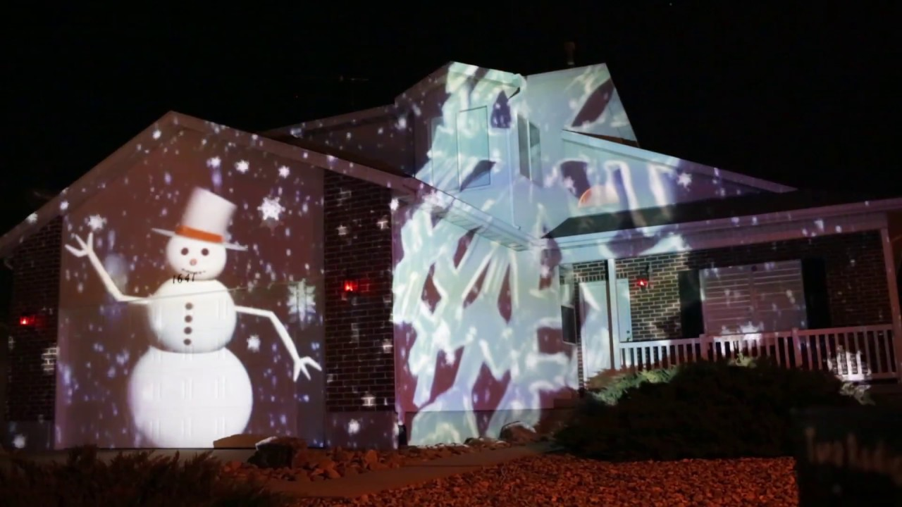 Christmas Projection Lights.2017 Christmas House Projection Mapping Display Live