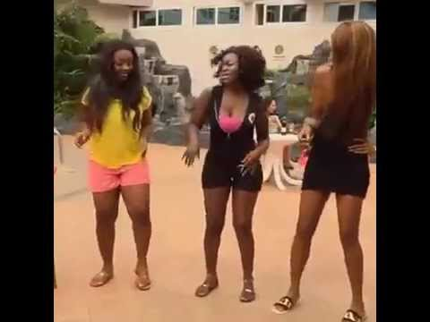 Yvonne Nelson and Jackie Appiah in Rap and Dance Battle