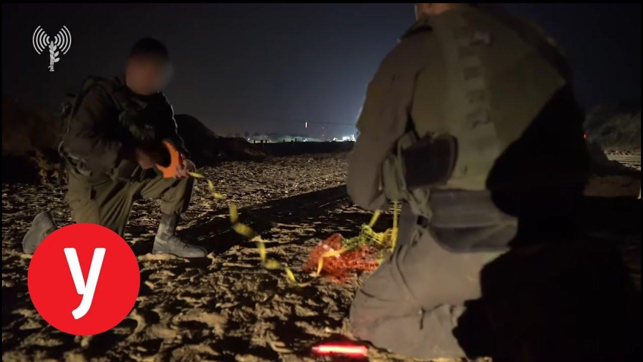 צפו: תיעוד מנהרה תת קרקעית מעזה
