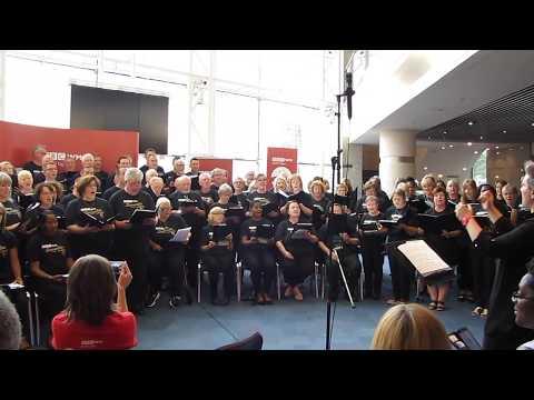9th July 2018 - Dementia Choir perform in foyer at Bham Symphony Hall
