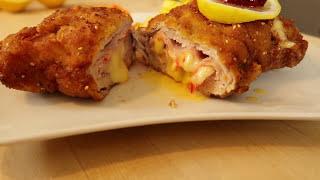 CORDON BLEU Rezept - Mit Käse gefüllte Schnitzel selber machen | Kochen