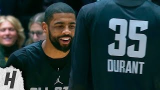 Kyrie Irving vs Kevin Durant 1-on-1 Highlights | February 16, 2019 NBA All-Star Practice