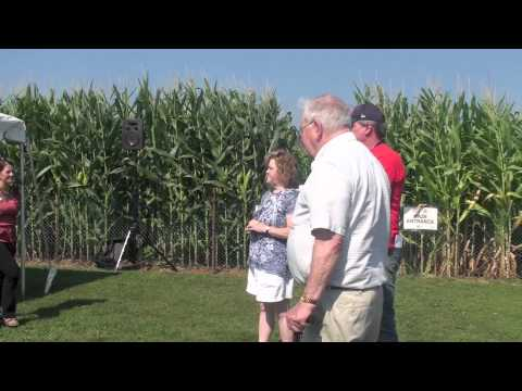 Lyman Orchards' Yankees vs. Red Sox Corn Maze Opening Ceremonies 090112