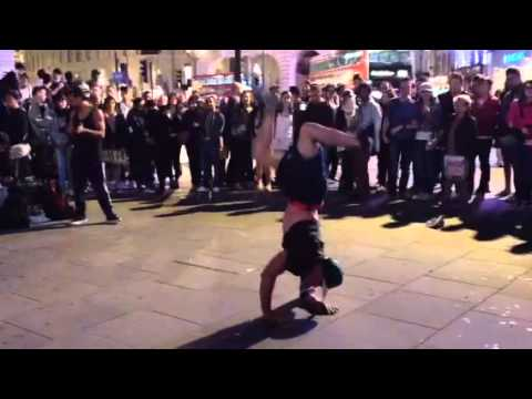awesome Street dancers  Leicester sq London, one of Londons