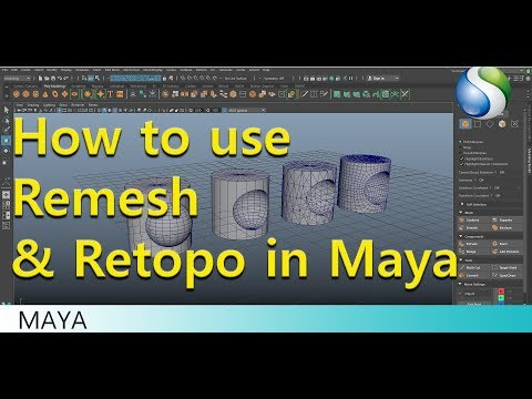 How to use Reshape Retopo command in Autodesk Maya