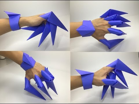 Origami Paper Claws & Diamond Shaped Bracelet #1 - A to Z DIY ORIGAMI PAPER CRAFT