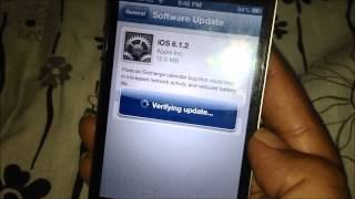 How to install iOS 6.1.2 software update in iPhone ?