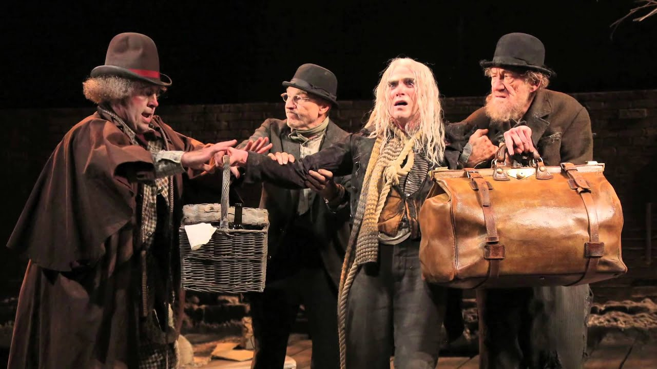 a review of the new york city production of waiting for godot 'while waiting-for-godot' is made with a new york university cinema verite footage of new york city feel is paramount to any production of godot.