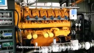 видео Газопоршневые электростанции в контейнере
