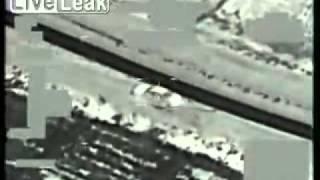 US Predator Drone Targets Insurgent Vehicle w_ Hellfire  -  (FLIR).flv