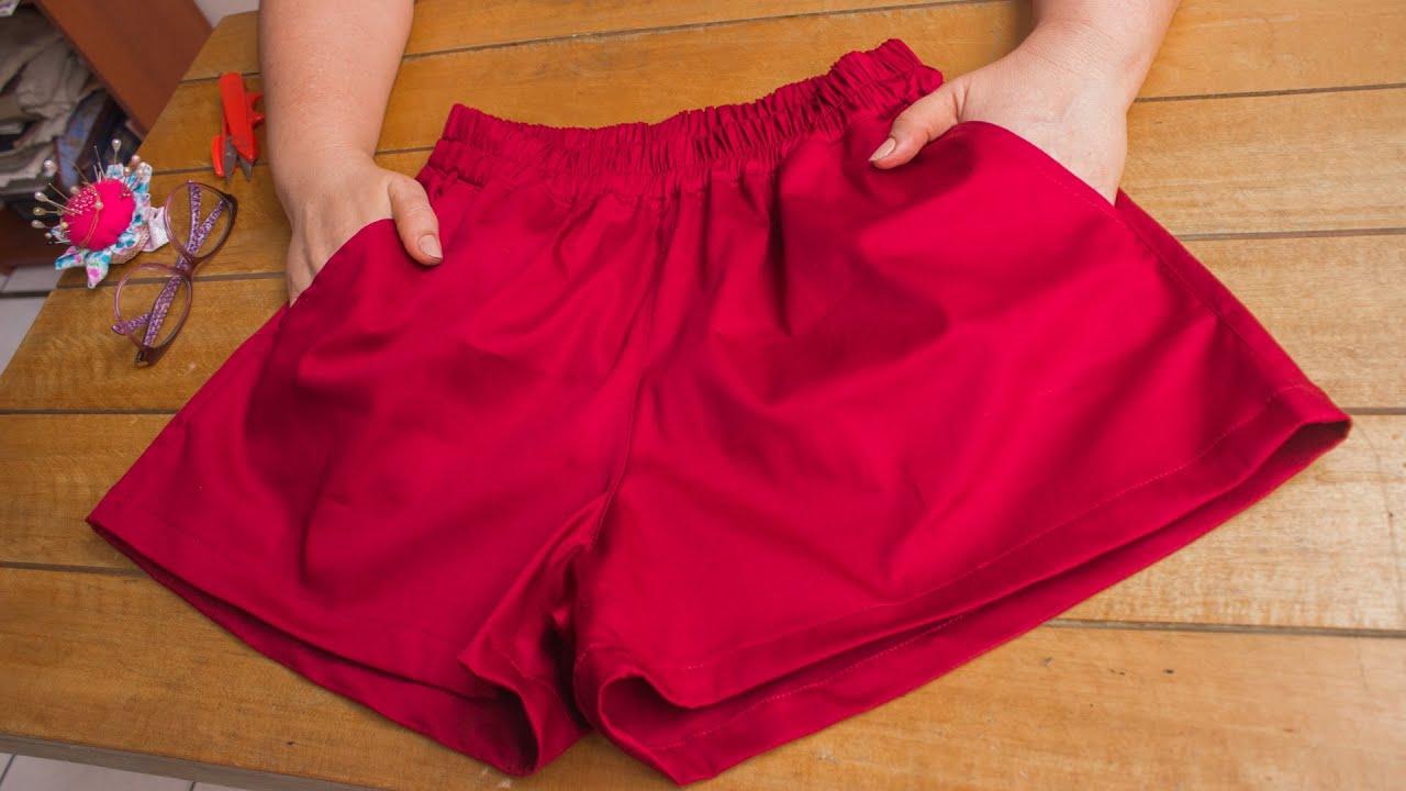 Lindo Short para dama con bolsillos/Patrones incluidos tallas XS-S-M-L-XL