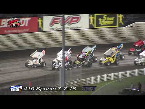 Knoxville Raceway 410 Highlights - July 7, 2018