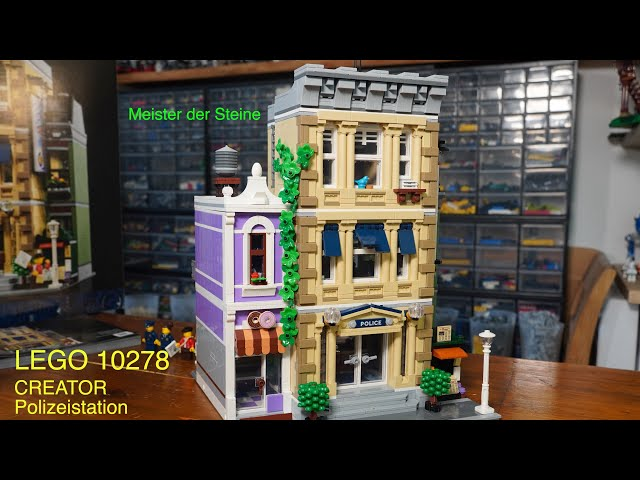 Review, LEGO 10278, Police STATION, Modular buildings collection, Polizeistation, Meister der Steine