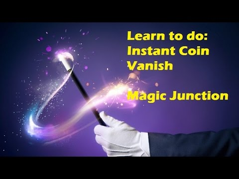 Magic Trick revealed: Instant coin vanish with pen, performance and tutorial