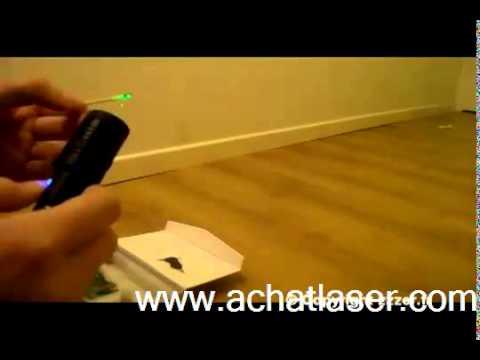 Pointeur Laser vert 500mW puissant - YouTube