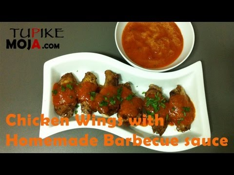 Recipe of Chicken Wings with Homemade Barbecue sauce - Mapishi ya (In Swahili. Subtitled in English)