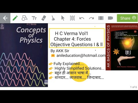 H C Verma Vol1 Chapter 4 Objective Questions Forces