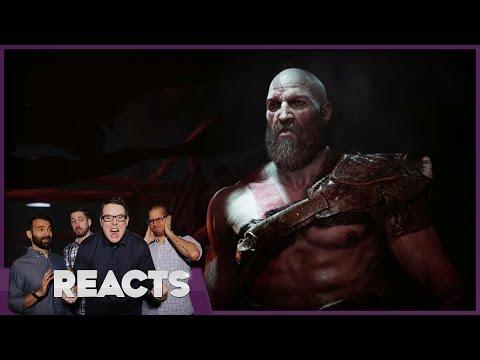 God of War Behind Closed Doors E3 2016 - Kinda Funny Reacts
