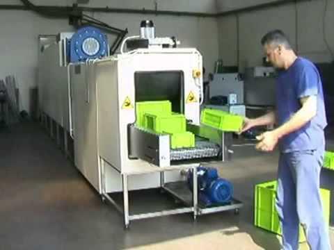 Lavadora t nel para limpieza de cajas de pl stico - Cajas de plastico ...