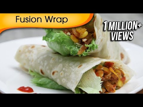 Fusion Wrap - Healthy Veg Wrap - Quick Easy To Make Tiffin Snacks / Brunch Recipe By Ruchi Bharani