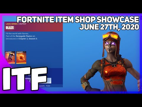Fortnite Item Shop *NEW* MOLTEN RENEGADE RAIDER SKIN! [June 27th, 2020] (Fortnite Battle Royale)