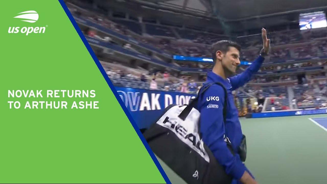 Novak Djokovic Walks Out Onto Arthur Ashe | 2021 US Open Round 1
