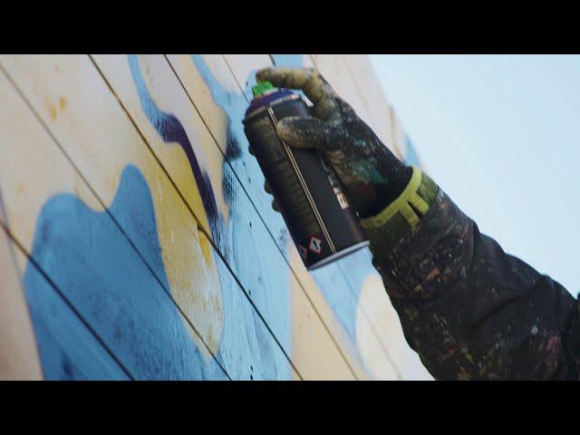 100 Meter Bauzaun-Graffiti an der Glocksee | hanova x enercity