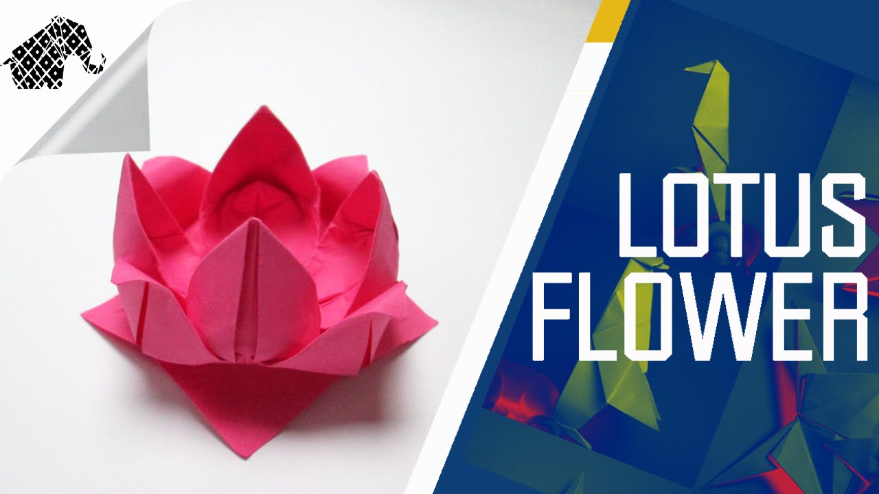 origami how to make an origami lotus flower youtube