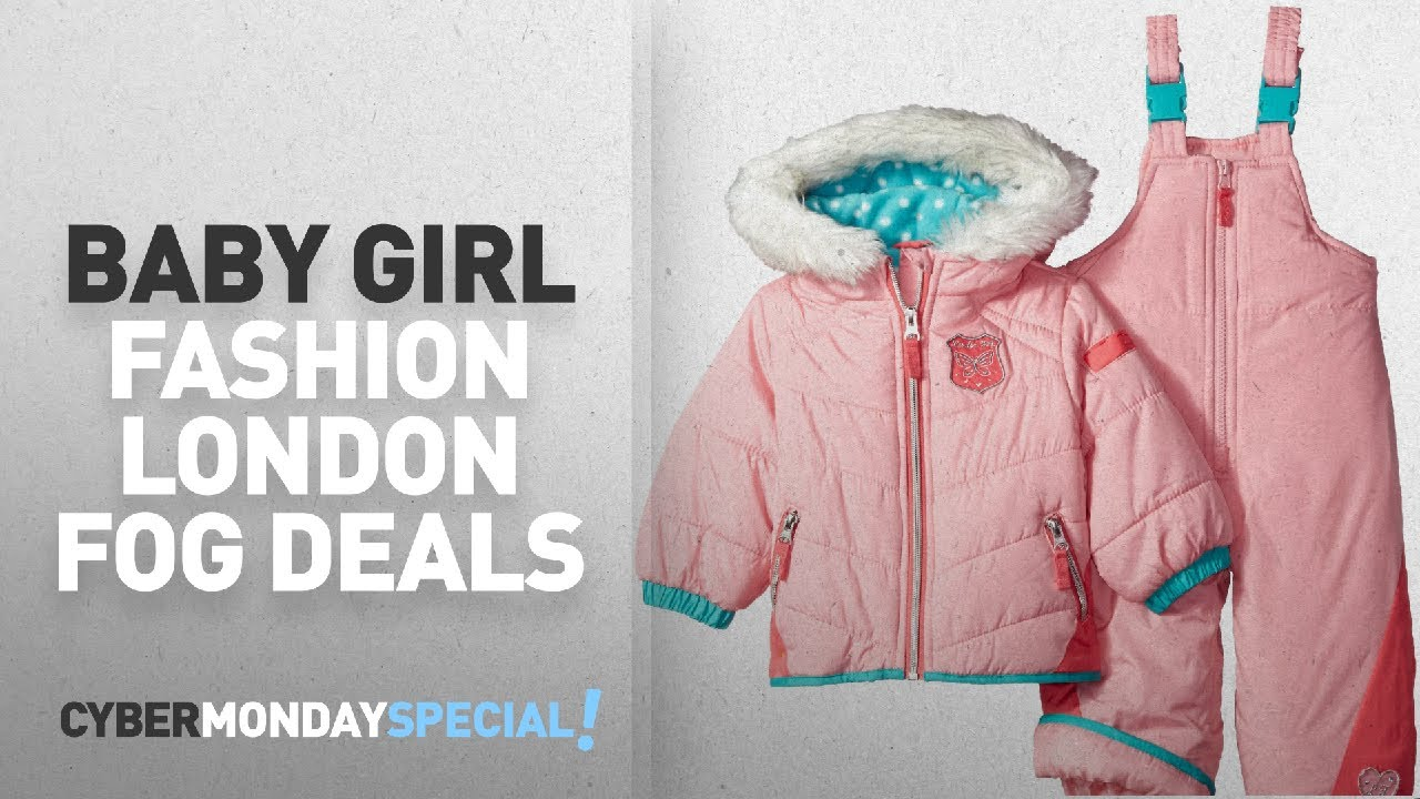 030b836b1 Top Cyber Monday Baby Girl Fashion By London Fog: London Fog Baby Girls  Snowsuit with Snowbib and