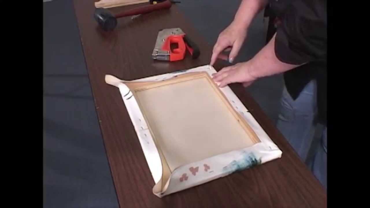 how to stretch a canvas for oil acrylic paintings giclees and prints youtube. Black Bedroom Furniture Sets. Home Design Ideas