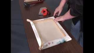 How to Stretch a Canvas for oil & acrylic  paintings, giclees and prints