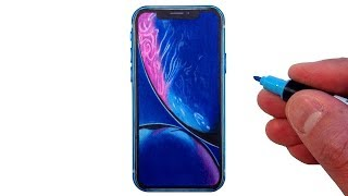 How to Draw the iPhone XR