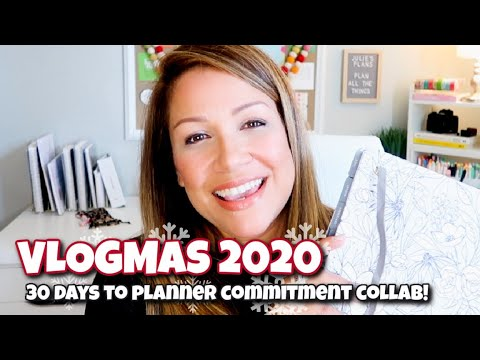 VLOGMAS DAY 9   HOW TO COMMIT TO A PLANNER #PlannerCommitment