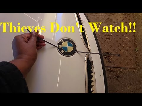 """How to steal My BMW badge - Thieves don""""t watch!!!"""