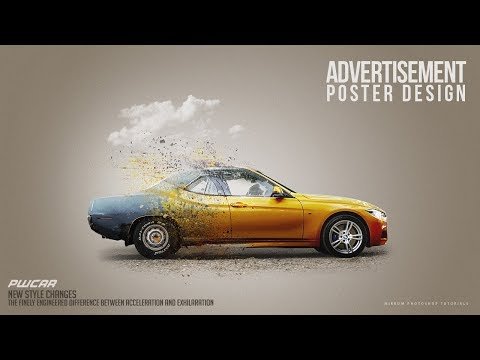 Make a Car Advertisement Poster Manipulation Concept in Phot