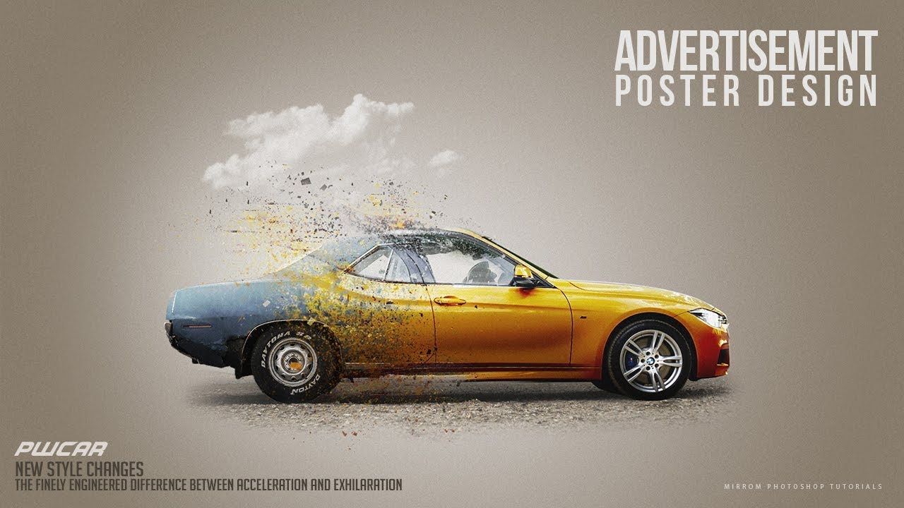Make a Car Advertisement Poster Manipulation Concept in ...