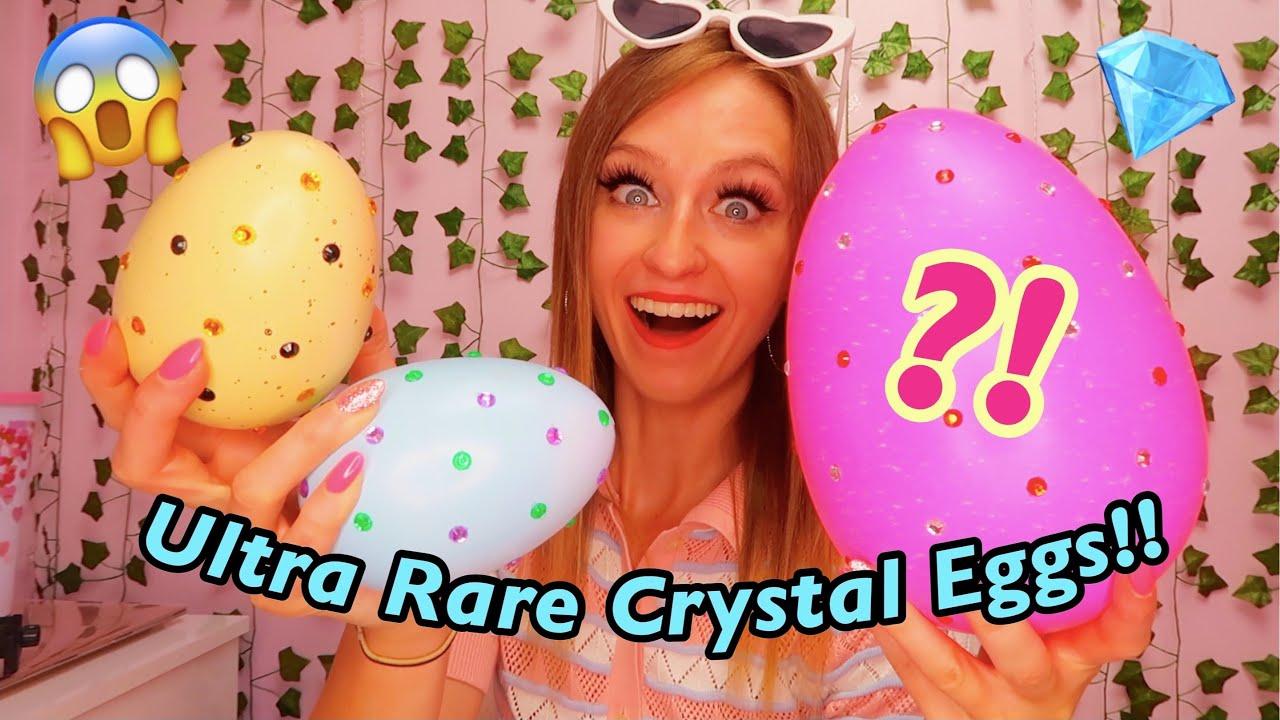 HATCHING 3 ULTRA RARE *CRYSTAL* MYSTERY SURPRISE EGGS!!😱🥚TikTok Mystery Eggs   Rhia Official♡ *ASMR*