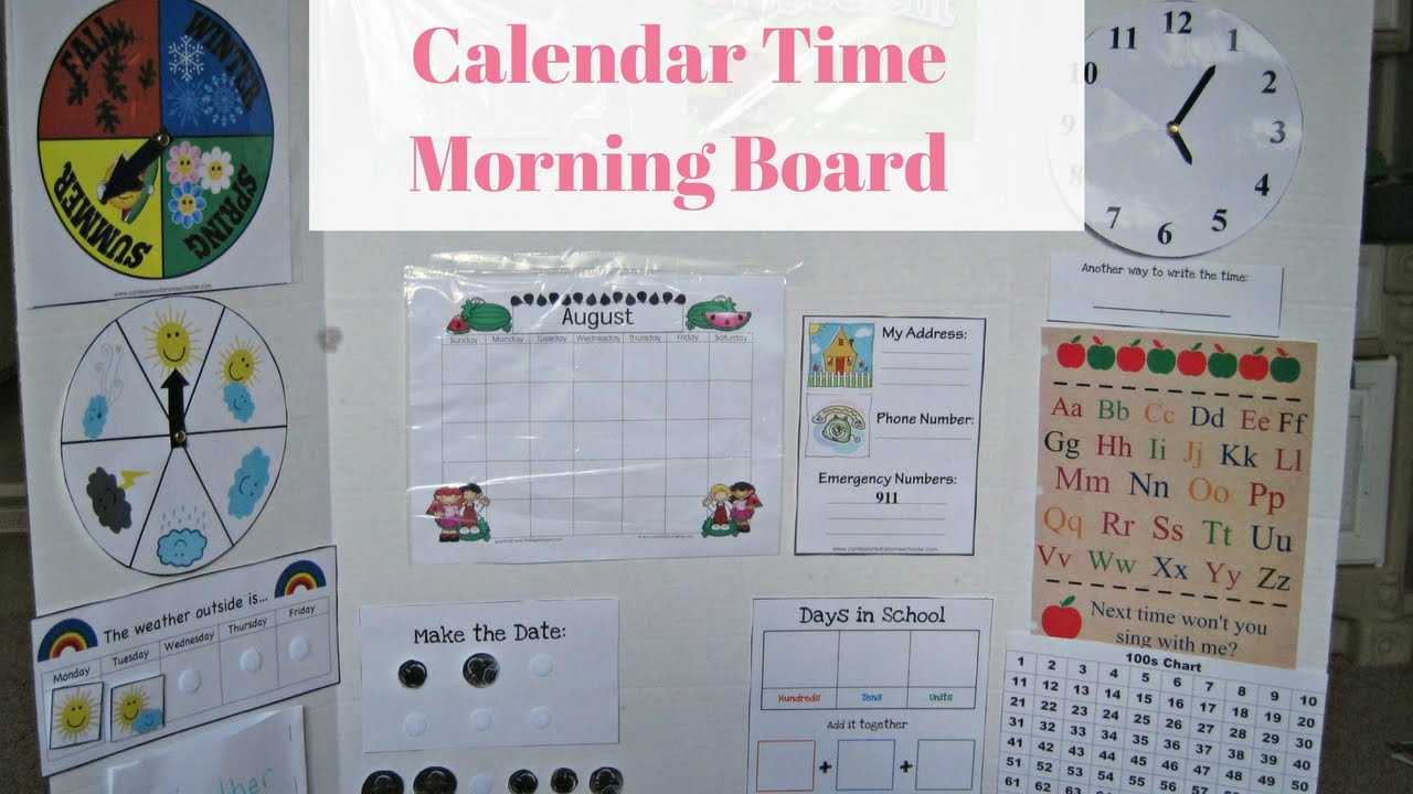 Diy Calendar For Kindergarten : Diy calendar time morning board for preschool and