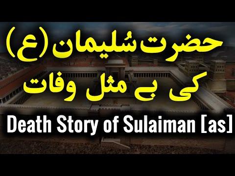 Hazrat Sulaiman [AS] Ki Wafaat | Death Story of Kingdom Solomon [as] [Urdu]