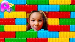 Anna play Baby Doll wich Giant Color Brick Block House Toy by Anna